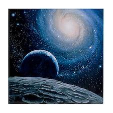 Artwork of a spiral galaxy Tile Coaster