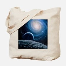 Artwork of a spiral galaxy Tote Bag