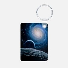 Artwork of a spiral galaxy Keychains
