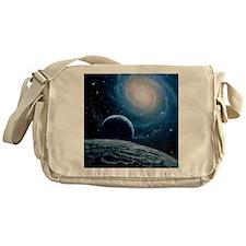 Artwork of a spiral galaxy Messenger Bag
