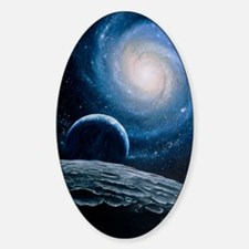 Artwork of a spiral galaxy Decal