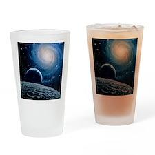 Artwork of a spiral galaxy Drinking Glass