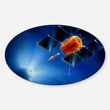 Artwork of Deep Impact mission enco Sticker (Oval)