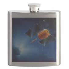 Artwork of Deep Impact mission encountering  Flask