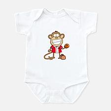 Bowling Monkey Infant Bodysuit