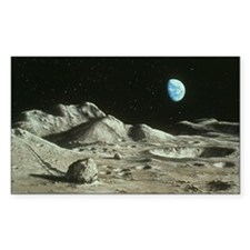 Artwork of Moon's surface with Decal