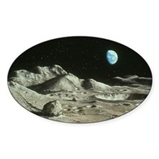 Artwork of Moon's surface with Eart Decal