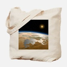 Artwork of ancient Mars with water on its Tote Bag