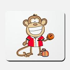 Bowling Monkey Mousepad