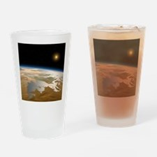 Artwork of ancient Mars with water  Drinking Glass