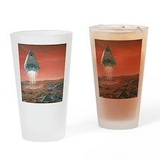 Artwork of exploration module landi Drinking Glass