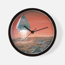 Artwork of exploration module landing o Wall Clock