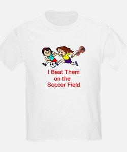 Girl's Soccer / Violin Kids T-Shirt
