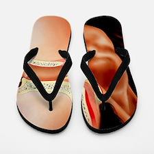 Artwork of section through human ear Flip Flops