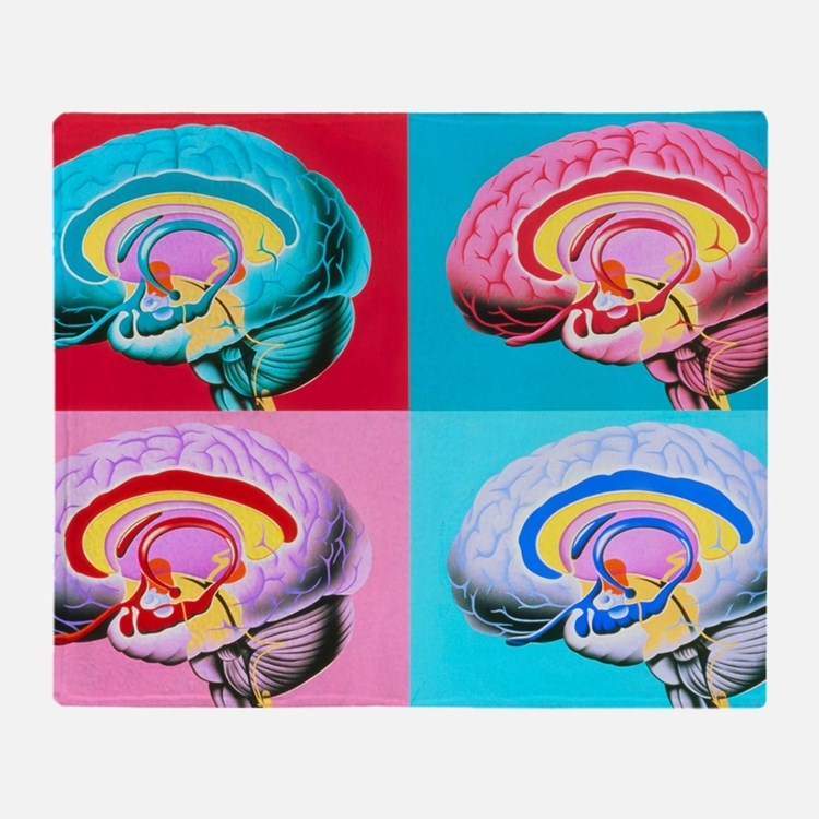 Artworks showing the limbic system o Throw Blanket