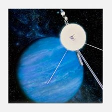 Artwork of Voyager 2 approaching Nept Tile Coaster
