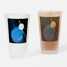 Artwork of Voyager 2 approaching Ne Drinking Glass