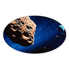 Asteroid on collision course with e Decal