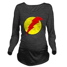 A Red Lightning Bolt Long Sleeve Maternity T-Shirt