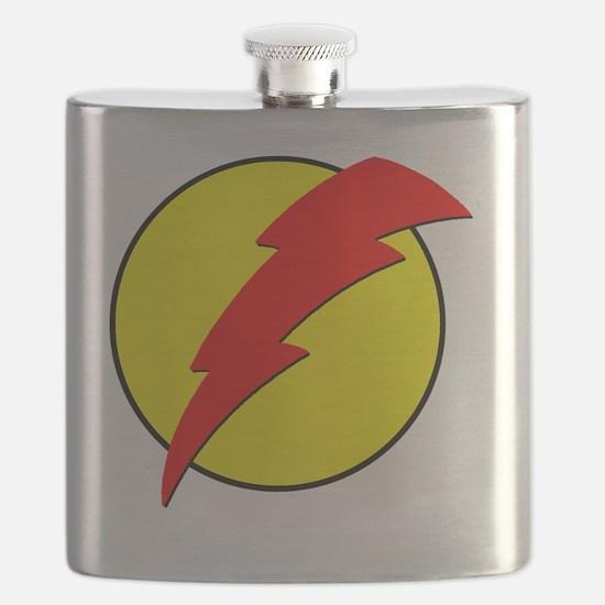 A Red Lightning Bolt Flask