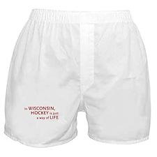 Wisconsin Hockey Boxer Shorts
