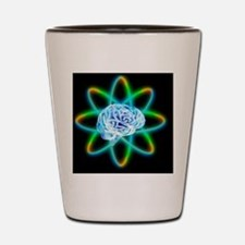 Atomic brain Shot Glass