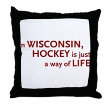 Wisconsin Hockey Throw Pillow