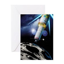 Asteroid gravitational tractor Greeting Card