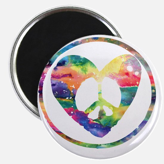 Peace Heart Rainbow C Magnet