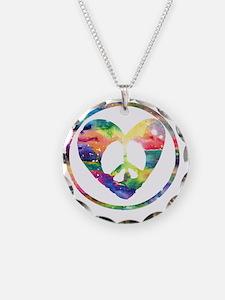 Peace Heart Rainbow C Necklace