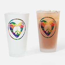 Peace Heart Rainbow C Drinking Glass