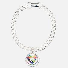 Peace Heart Rainbow C Bracelet
