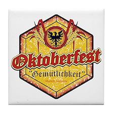 Oktoberfest Octogon Tile Coaster