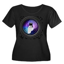 Film The Women's Plus Size Dark Scoop Neck T-Shirt