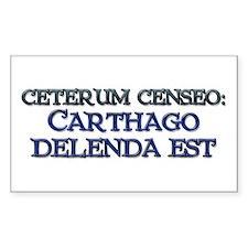 """""""Ceterum Censeo: Carthago"""" Rectangle Decal"""