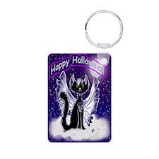 Bat Cat Halloween (vV) Keychains