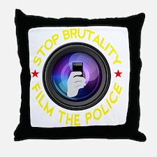 Film The Police Black Throw Pillow