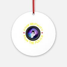 Film The Police Black Round Ornament