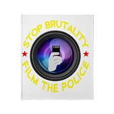 Film The Police Black Throw Blanket