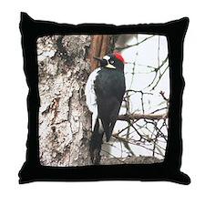 Calif. Redhead Woodpecker Throw Pillow