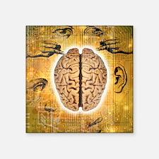 """Brain and senses Square Sticker 3"""" x 3"""""""