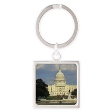 The White House Square Keychain
