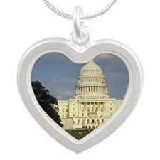 The White House Silver Heart Necklace
