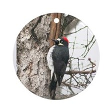 Calif. Redhead Woodpecker Ornament (Round)