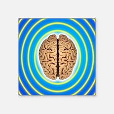 "Brainwaves Square Sticker 3"" x 3"""