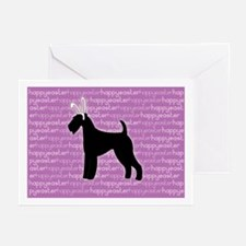 """Airedale """"Bunny"""" Greeting Cards (Pk of 10)"""