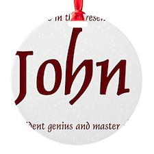 Master Chef John 1 Ornament