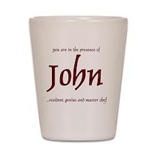 Master Chef John 1 Shot Glass