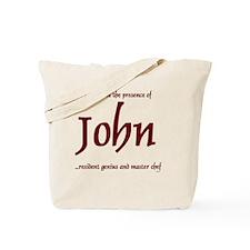 Master Chef John 1 Tote Bag