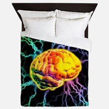 Brain activity Queen Duvet